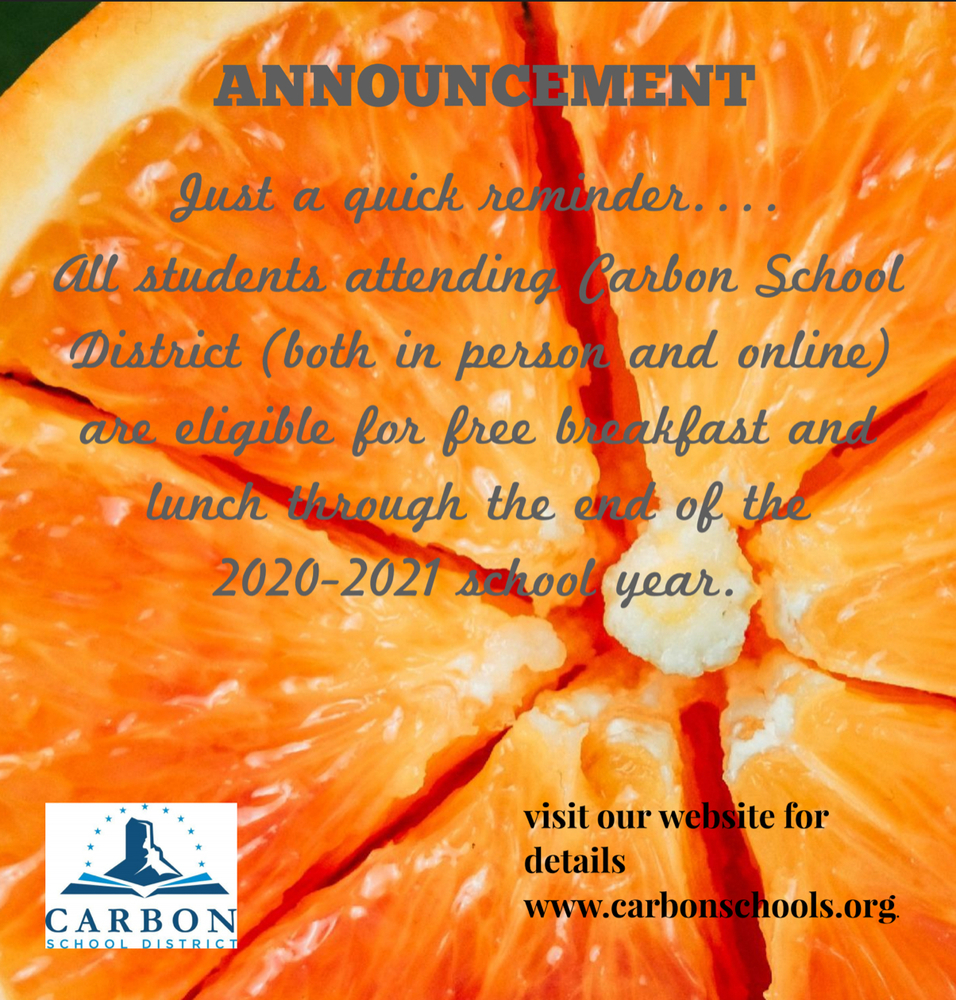 Food Nutrition announcement