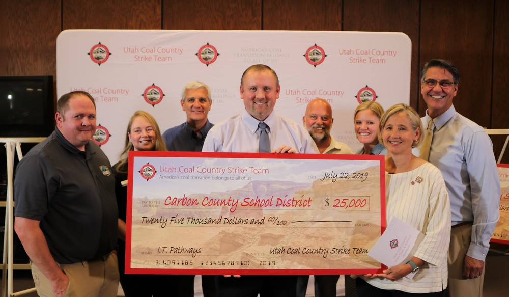 Utah Coal Country Strike Team awards $25,000 to Carbon School District