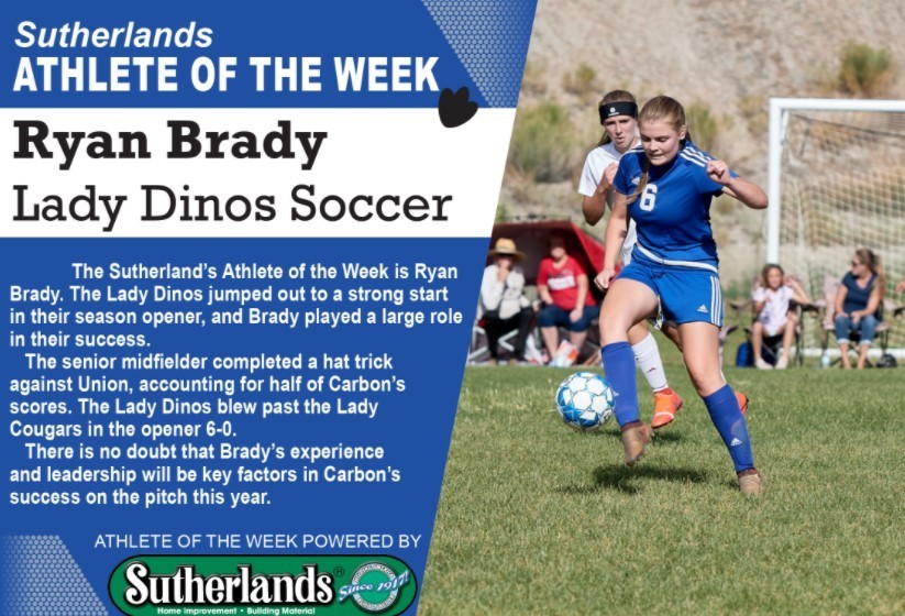 RYAN BRADY NAMED SUTHERLANDS' ATHLETE OF THE WEEK