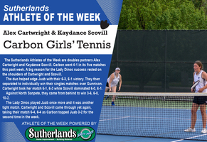 ALEX CARTWRIGHT & KAYDANCE SCOVILL NAMED SUTHERLANDS' ATHLETE OF WEEK