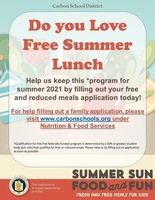 Summer Lunch information