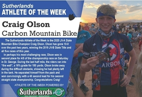 CRAIG OLSON NAMED SUTHERLANDS ATHLETE OF THE WEEK