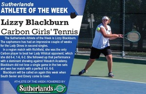 LIZZY BLACKBURN NAMED SUTHERLANDS ATHLETE OF THE WEEK