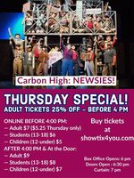 "EXTRA! EXTRA! Thursday Special on ""Newsies"" Tickets!"