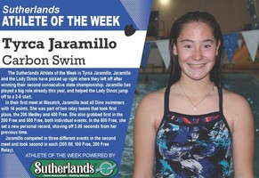 TYRCA JARAMILLO NAMED SUTHERLANDS ATHLETE OF THE WEEK