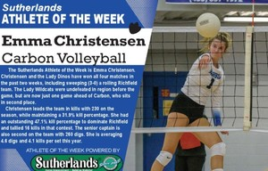 EMMA CHRISTENSEN NAMED SUTHERLANDS ATHLETE OF THE WEEK