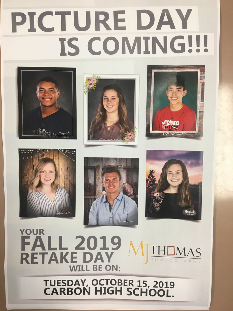 Picture Retake Day at CHS is October 15!