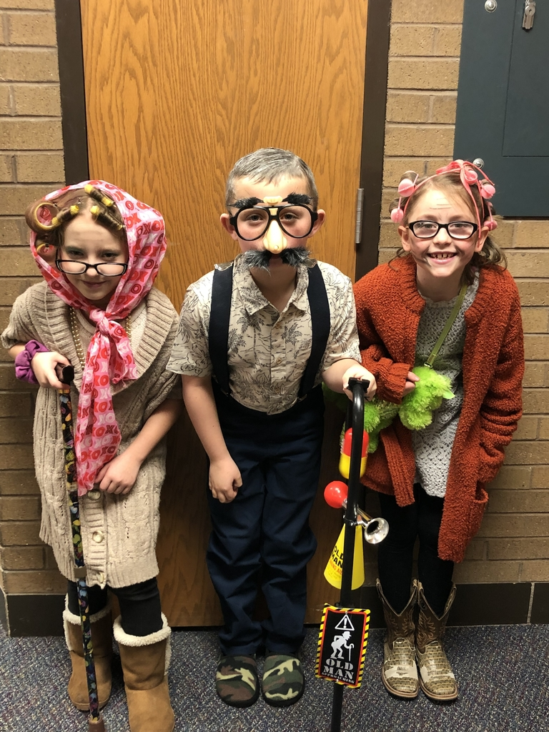 Second Grade celebrating the 100th day of school.