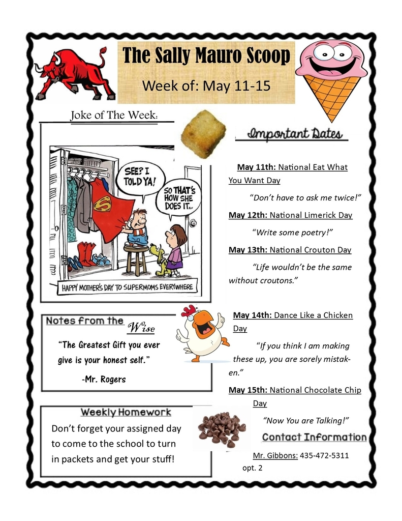 newsletter may 11-15