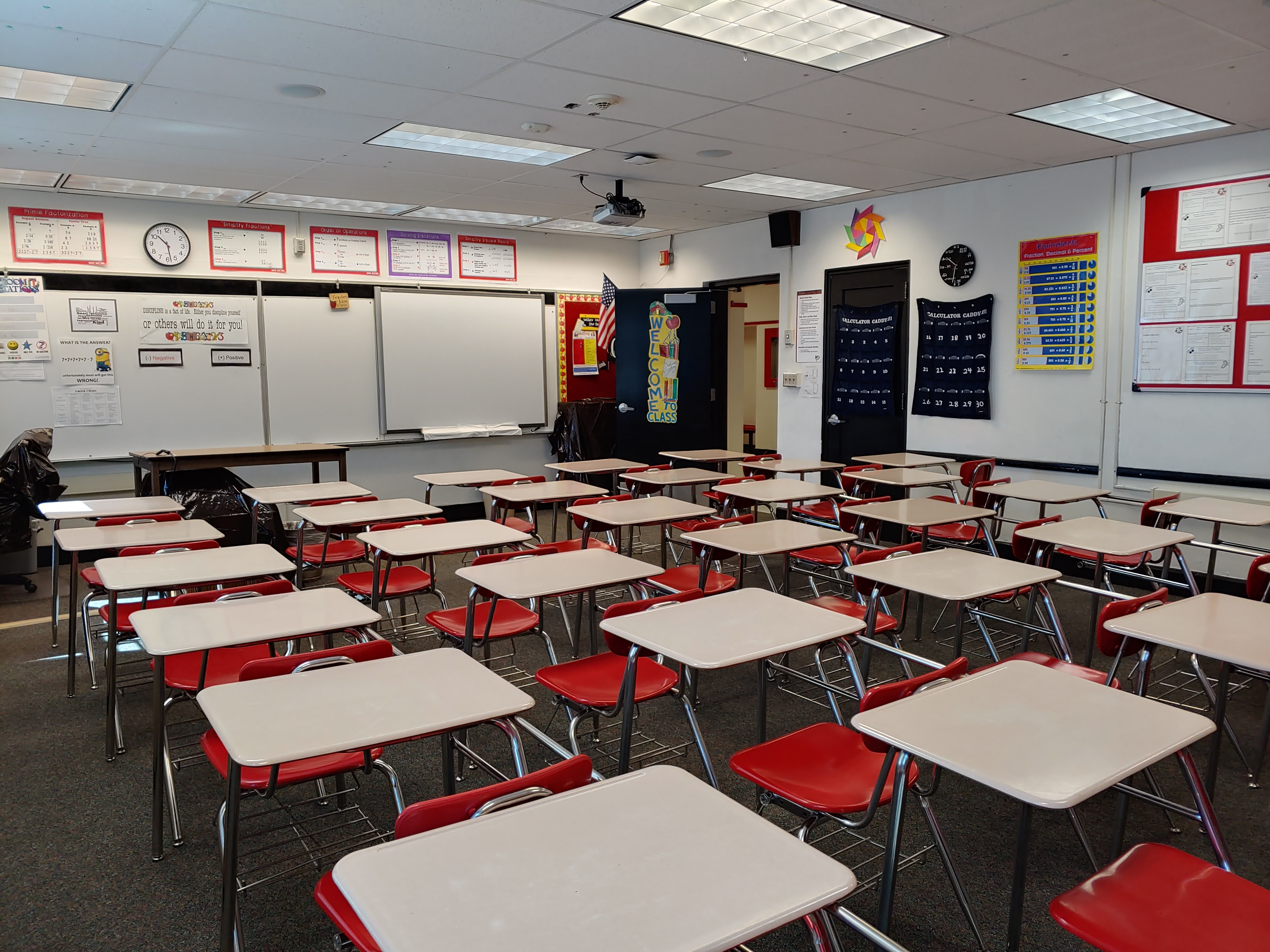 A Classroom at Helper Middle School