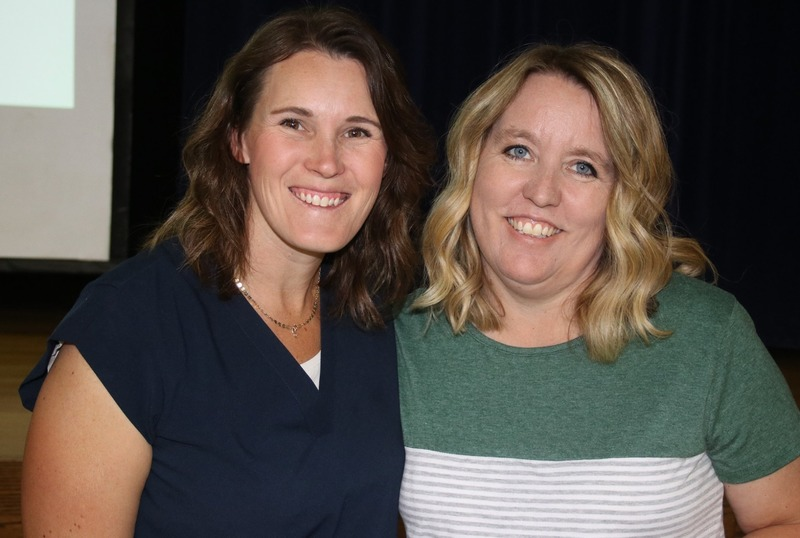 Teachers starting their 10th year included Tamara Blackburn and Tina Frame.